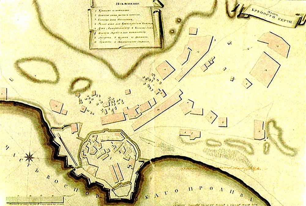 План крепости Керчь в